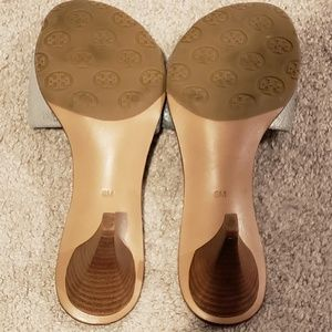 9f86108e9928 Tory Burch Shoes - Tory Burch Aerin Metallic Silver Heels Slides 8